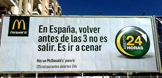 Diferencia entre eslogan y claim. McDonalds
