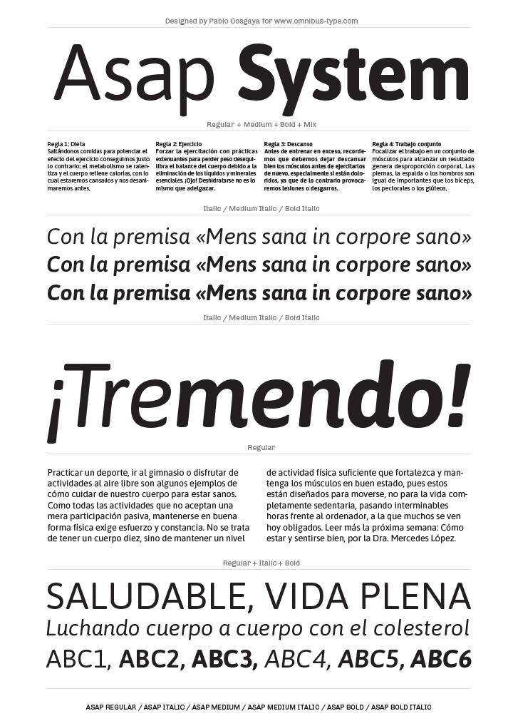 Tipografía Asap