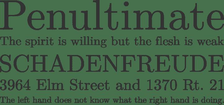 Latin Modern Roman font