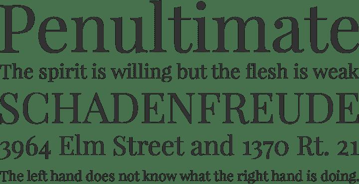 Playfair font