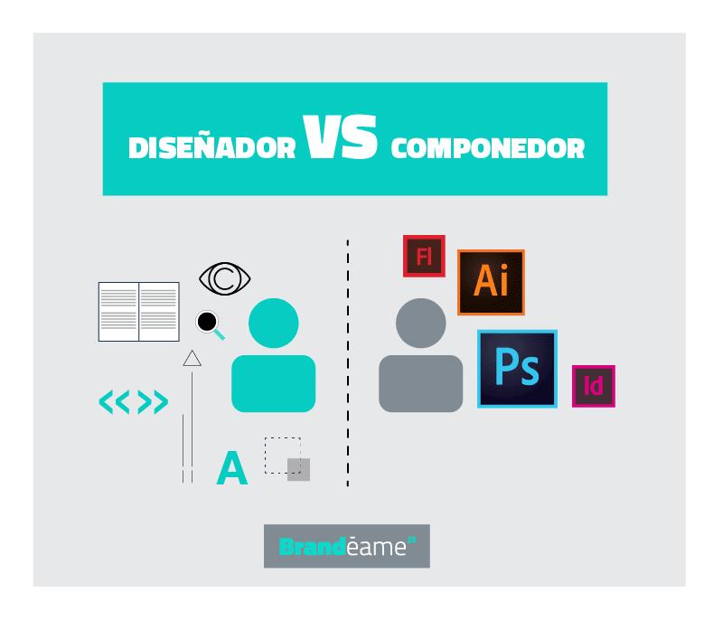 diseñador versus componedor